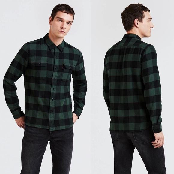 629a6316ce Levi s Other - Levi s Classic Worker Shirt Green Check Plaid